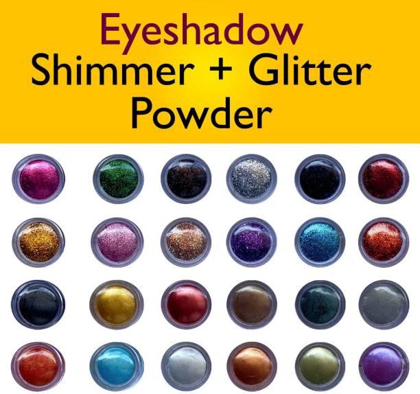 VOZWA Multicolor Shining Eyeshadow Shimmer / Glitter Powder 24 Pcs 24 g