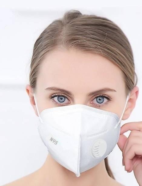 Servomate N95 Face Mask for Pollution (White) Reusable