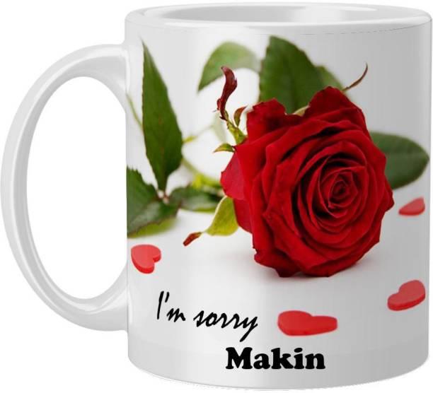 Beautum Makin I AM SORRY Printed White Model No:BYSIMG011457 Ceramic Coffee Mug