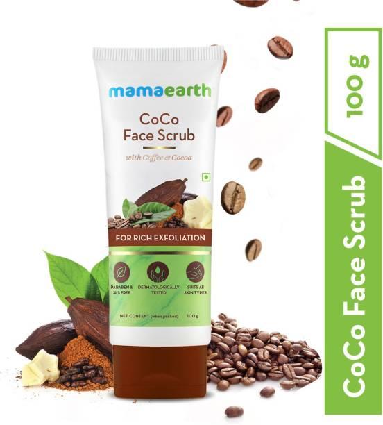 """MamaEarth """"CoCo Face Scrub with Coffee & Cocoa for Rich Exfoliation - 100g """" Scrub"""