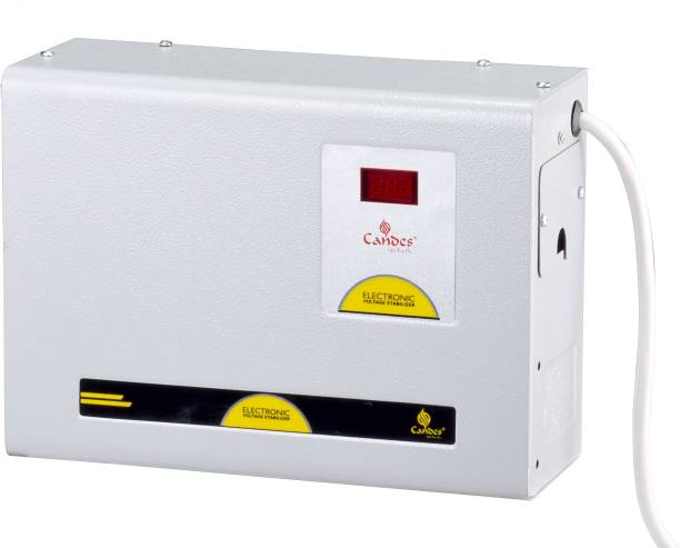Candes Crystal 490 Voltage Stabilizer 4kVA for 1.5 Ton AC (130V to 285V) Voltage Stabilizer & Wide Working Range best for Inverter AC, Split AC or Windows AC upto 1.5 Ton