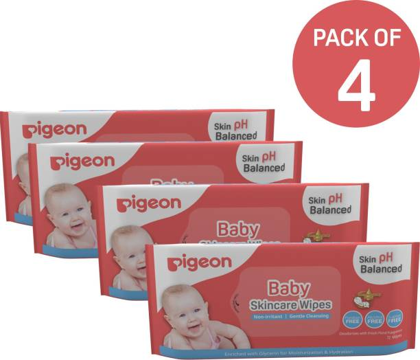 Pigeon BABY SKINCARE WIPES 72 SHEETS COMBO PACK OF 4