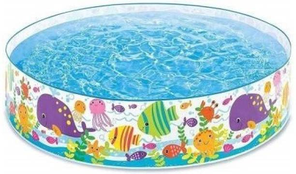 kashish trading company Bestway Swimming Pool not Inflatable Multicolor Bathtub for Kids, Children Playing Toy 6 Feet Free-standing Bathtub