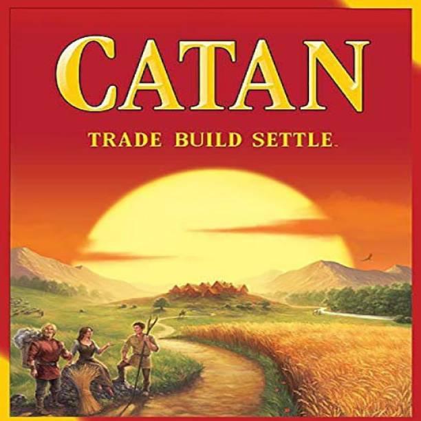 SPKART CATAN TRADE BUILD SETTLE Board Game Educational Board Games Party & Fun Games Board Game