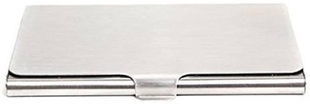 Veluce Unisex Steel ATM/Visiting/credit Card Holder, Business Card Case Holder 10 Card Holder