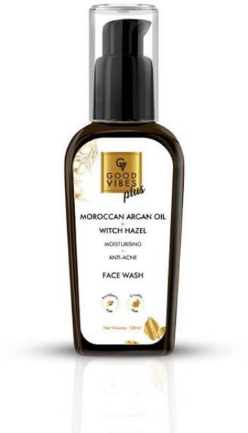 GOOD VIBES Plus Moisturising + Anti - Acne  - Moroccan Argan Oil + Witch Hazel Face Wash