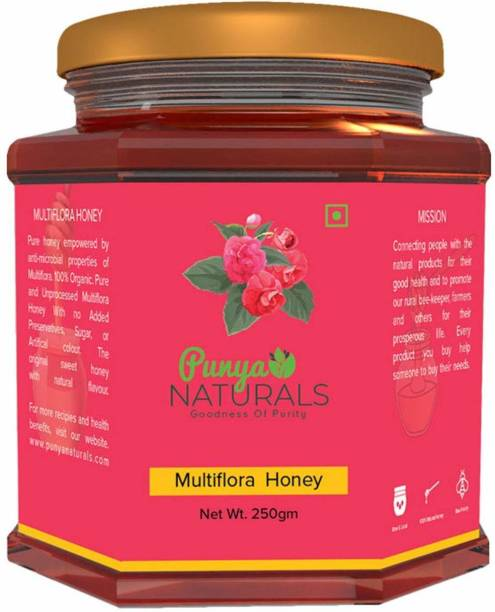 Punya Naturals Orgainc RAW MULTIFLORA HONEY