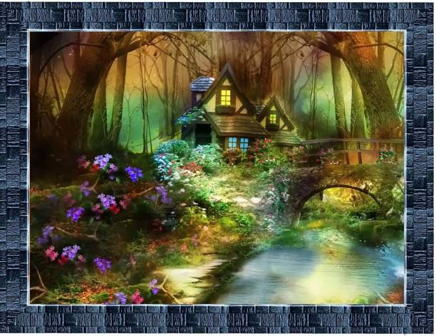 LiveArts beautiful Nature View Digital Reprint 10.5 inch x 13.5 inch Painting
