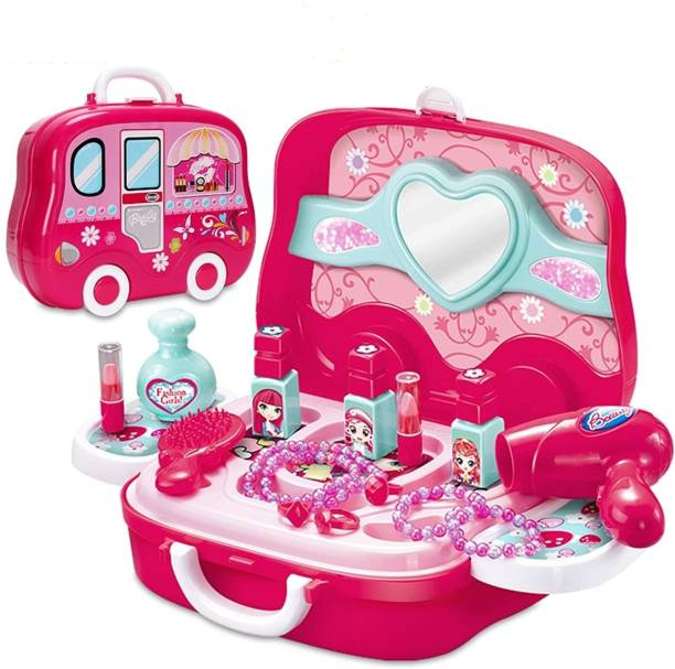 Kidz N Toys Kids Makeup Kit Pretend Play Cosmetic Set For Girls