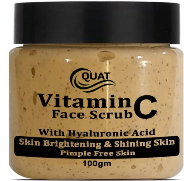 QUAT Vitamin C Face Scrub Tan Removal Repair Damage Caused By Sun Acne And Pimples Free Skin Scrub