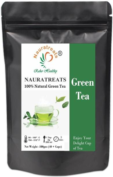 Nauratreats Green Tea for Weight Loss | 100% Natural Green Loose Leaf Tea | Pure Green Tea with No Additives Unflavoured Green Tea Pouch