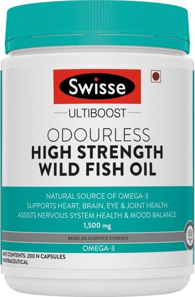 Swisse High Strength Fish Oil Omega 3 for Heart, Brain, Joints and Eyes