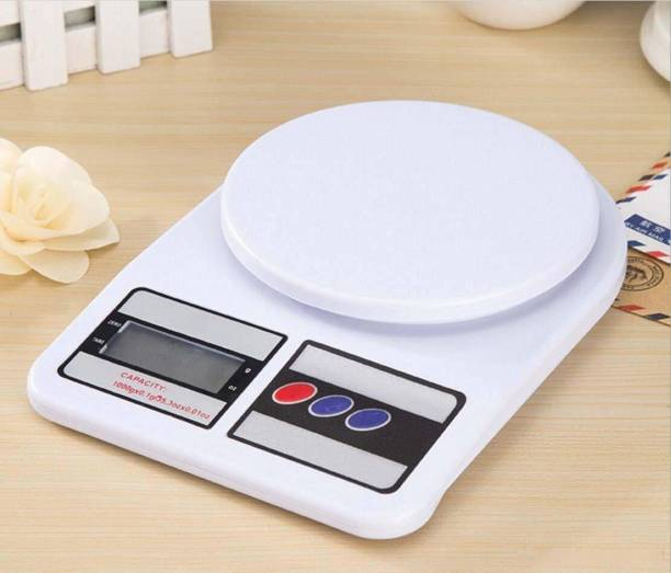 ARDAKI Kitchen Scale Digital Kitchen Weighing Machine Multipurpose Electronic Weight Scale with Backlit LCD Display for Measuring Food, Cake, Vegetable, Fruit Weighing Scale 1gm to 10kg Electronic Kitchen Weighing Scale Weighing Scale