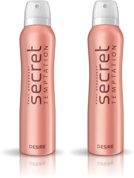 secret temptation Desire Pack of 2 Deodorant Spray  -  For Women