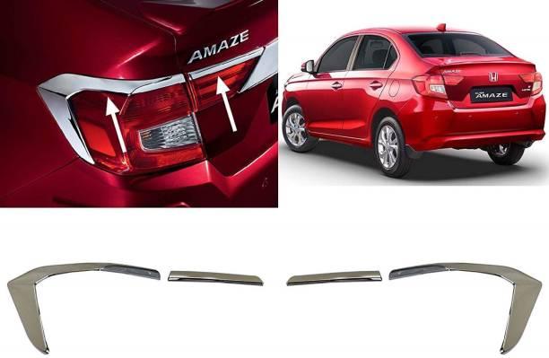 CARMART Tail Light Chrome Garnish Imported AMAZE 2018 onwards Chrome Honda Amaze Rear Garnish