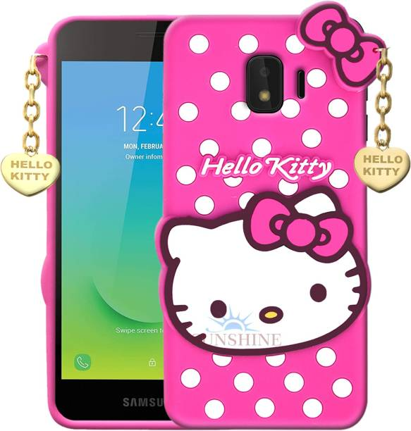 SUNSHINE Back Cover for Samsung Galaxy J2 Core - Hello Kitty Case   3D Cute Doll   Soft Girl Back Cover with Pendant