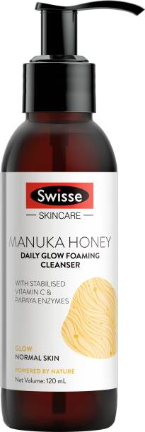 Swisse Skincare Manuka Honey Daily Glow Foaming Cleanser with Vitamin C and Papaya Enzymes