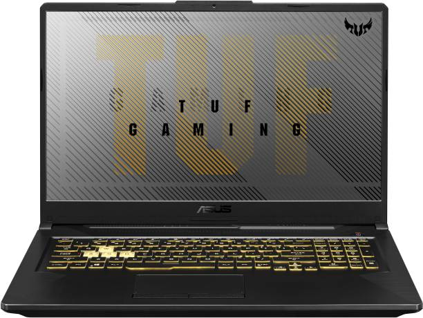 ASUS TUF Gaming A17 Ryzen 5 Hexa Core 4600H - (8 GB/1 TB HDD/256 GB SSD/Windows 10 Home/4 GB Graphics/NVIDIA GeForce GTX 1650 Ti/120 Hz) FA706II-H7186T Gaming Laptop