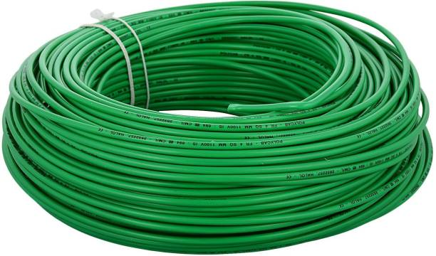 polycab 1.00 SQ MM PVC Insulated Industrial cable Green 90 m Wire