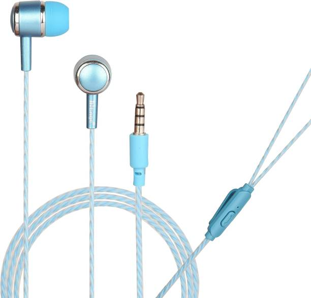 Hitage Round earphone with One Key Answer Button Wired Headset