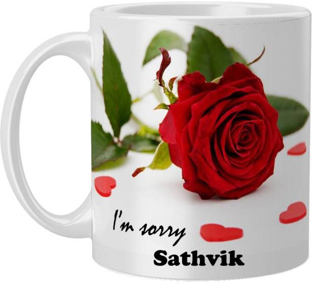 Beautum Sathvik I AM SORRY Printed White Model No:BYSIMG019130 Ceramic Coffee Mug