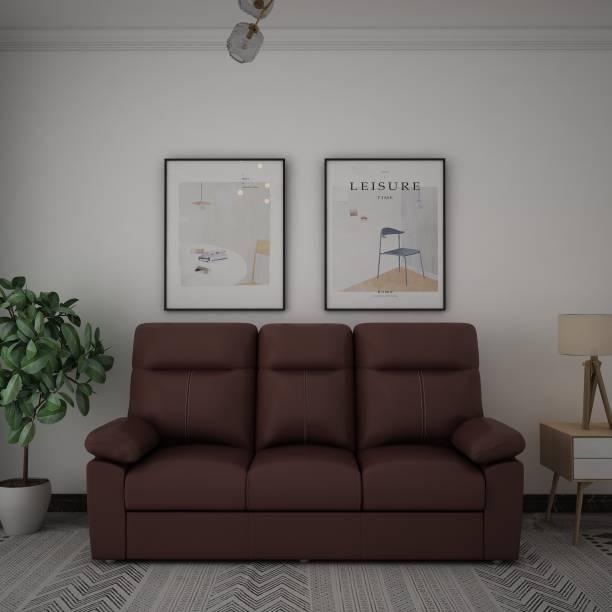 Sofame Diana Leatherette 3 Seater  Sofa