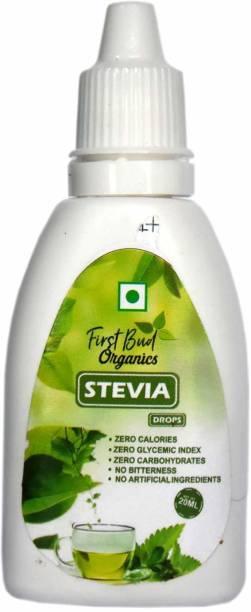 First Bud Organics Stevia Drops Liquid - 20 ml | 400 servings | Keto Diet | Zero Glycemic Index Sweetener