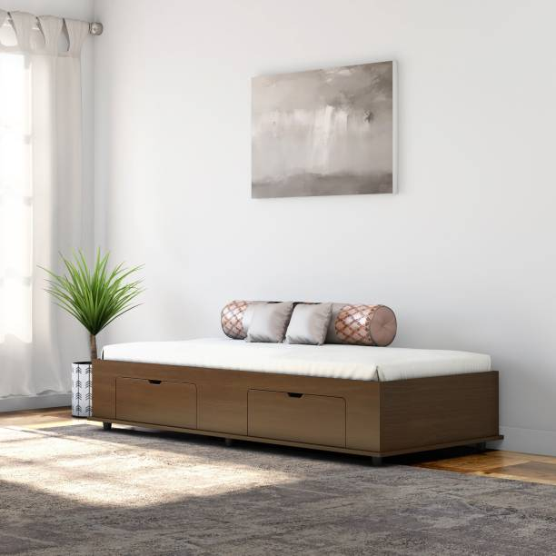 Okra Diwan Bed Engineered Wood Single Box Bed
