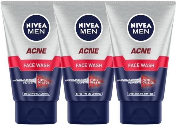 NIVEA MEN Acne ,100ml (Pack of 3) Face Wash