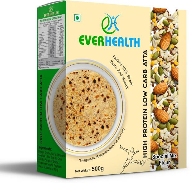 EVERHEALTH High Protein Low Carb Atta - 500gm