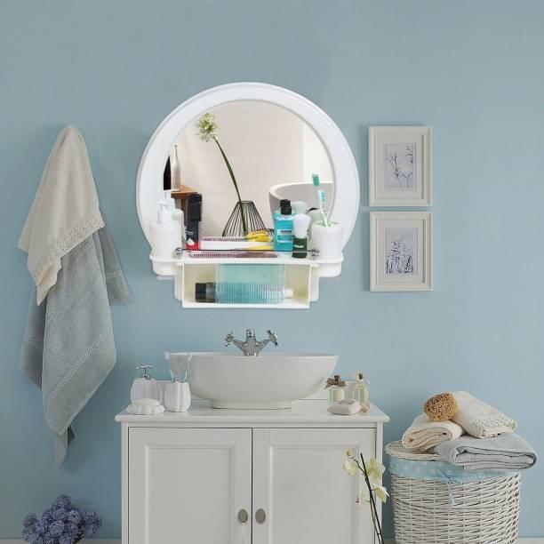 PARASNATH Prime Beautiful Decor Designer Plastic Bathroom Cabinet Mirror Fully Recessed Medicine Cabinet