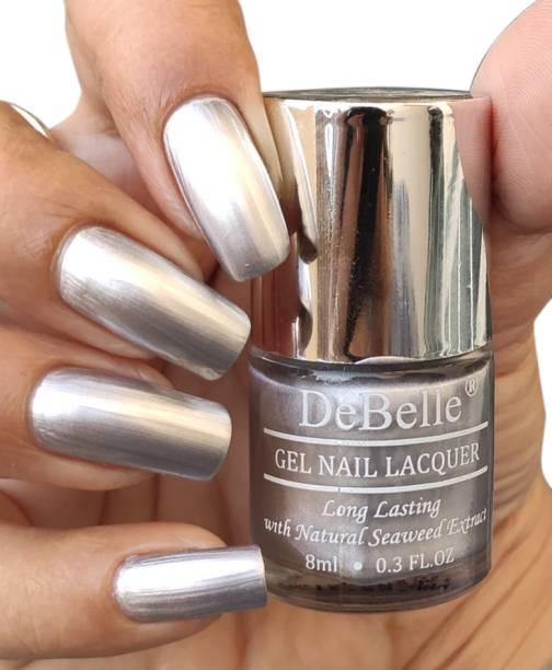 DeBelle Gel Nail Polish Metallic Silver 8 ml- Chrome Silver