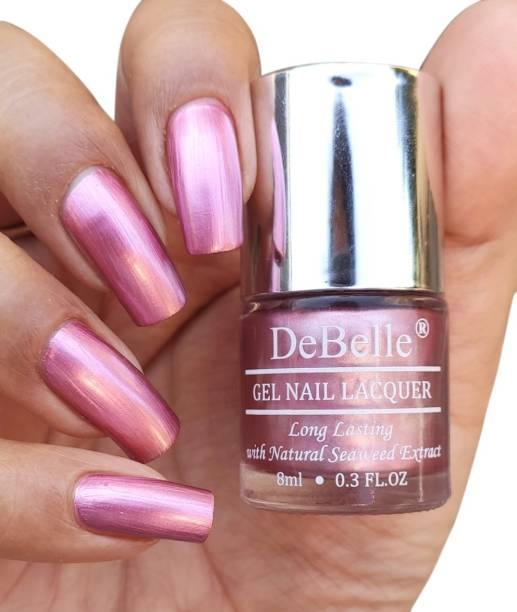 DeBelle Gel Nail Polish Metallic Pink 8ml - Chrome Glaze