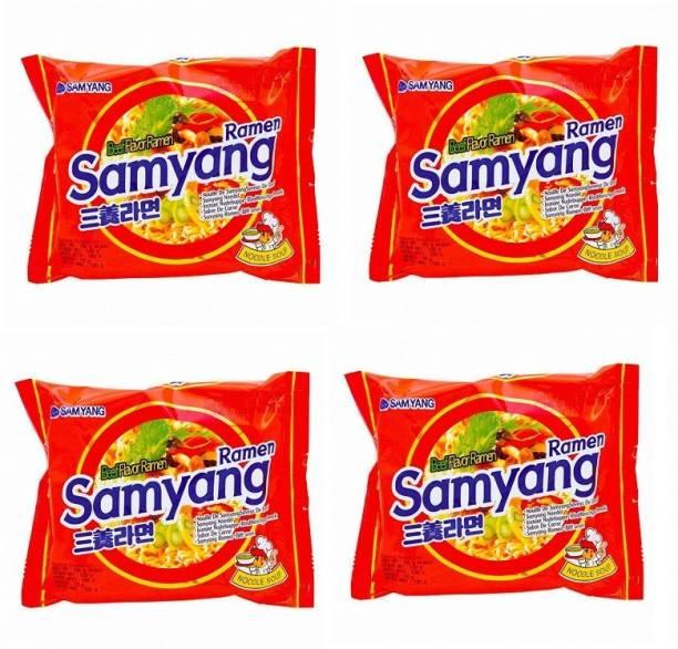 Samyang Instant Noodles (Pack of 4 ) 120 grams Instant Noodles Non-vegetarian