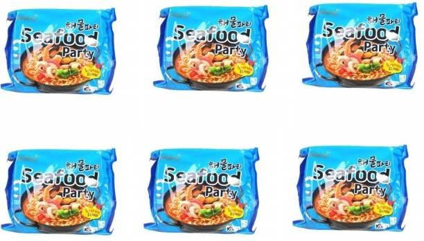 Samyang Sea food party instant noodles (Pack of 6) 125 grams Instant Noodles Non-vegetarian