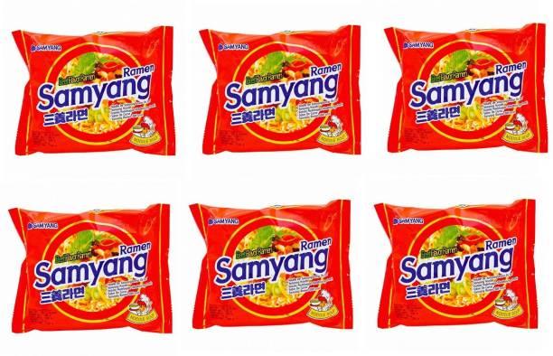 Samyang Instant Noodles (Pack of 6 ) 120 grams Instant Noodles Non-vegetarian