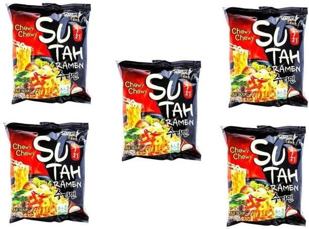 Samyang Sutah Ramen Instant Noodles (Pack of 5 ) 135 grams Instant Noodles Non-vegetarian