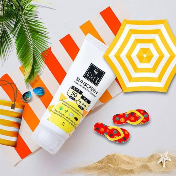 GOOD VIBES Wide Spectrum Sunscreen - SPF 50