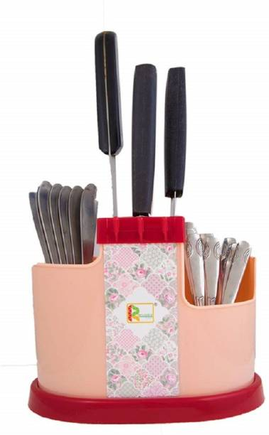 CREW4 Spoons, Knife & Other Kitchen Cutlery_Red Disposable Plastic Cutlery Set