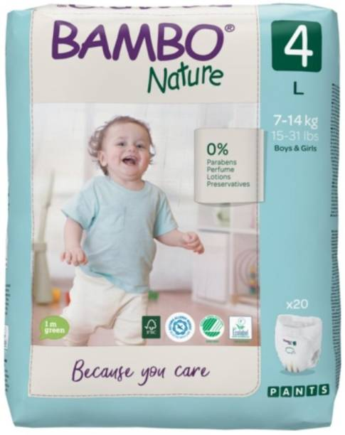 Bambo Nature Eco-Friendly Baby Diapers with Wetness Indicator - L