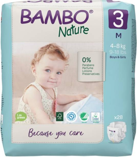 Bambo Nature Eco-Friendly Baby Diapers with Wetness Indicator - M