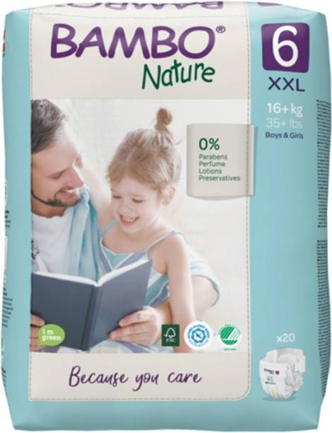 Bambo Nature Eco-Friendly Baby Diapers with Wetness Indicator - XXL