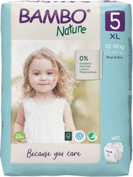 Bambo Nature Eco-Friendly Baby Diapers with Wetness Indicator - XL