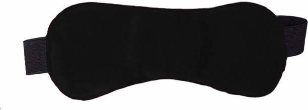 Nitsha Blind Sleeping Eye Mask Slip Night Sleep Eye black Super Soft & Smooth Travel Masks for Men Women Girls Boys Kids (Black)