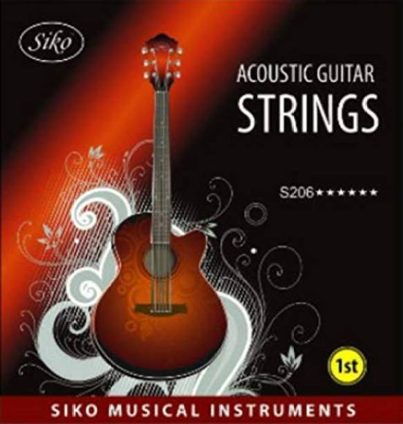 Siko Acoustic S206 SL (E-1st) Stainless Steel pack of THREE Guitar String
