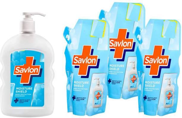Savlon PUMP 200 ml+refile 185 x3 Hand Wash Pump + Refill