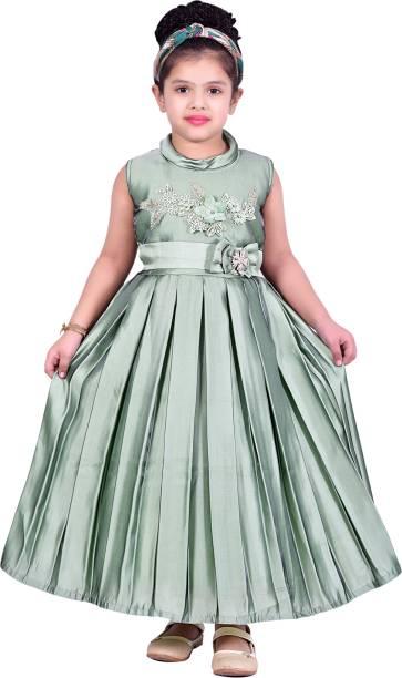 Ziva Fashion Girls Maxi/Full Length Party Dress