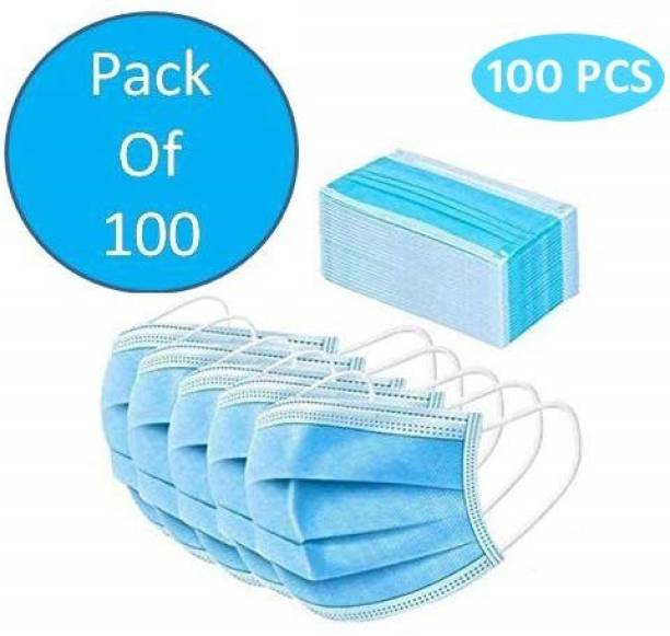 PHOUR HUB 100 Surgical Face Mask, Anti Pollution, 3 Ply Face Mask Water Resistant Surgical Mask