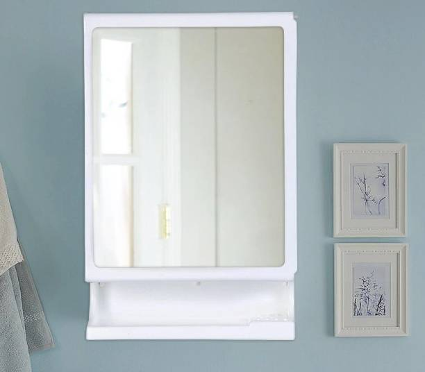 PARASNATH Strong and Heavy New Look Bathroom Cabinet with Cabinet with Mirror - White Surface Mounting Medicine Cabinet