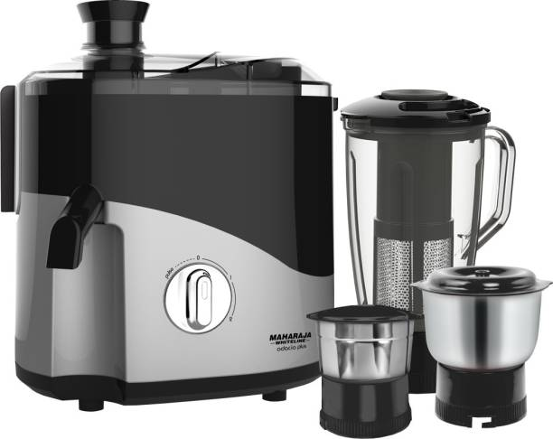 MAHARAJA WHITELINE Odacio Plus JX1-157 550 W Juicer Mixer Grinder (3 Jars, Black, Grey)